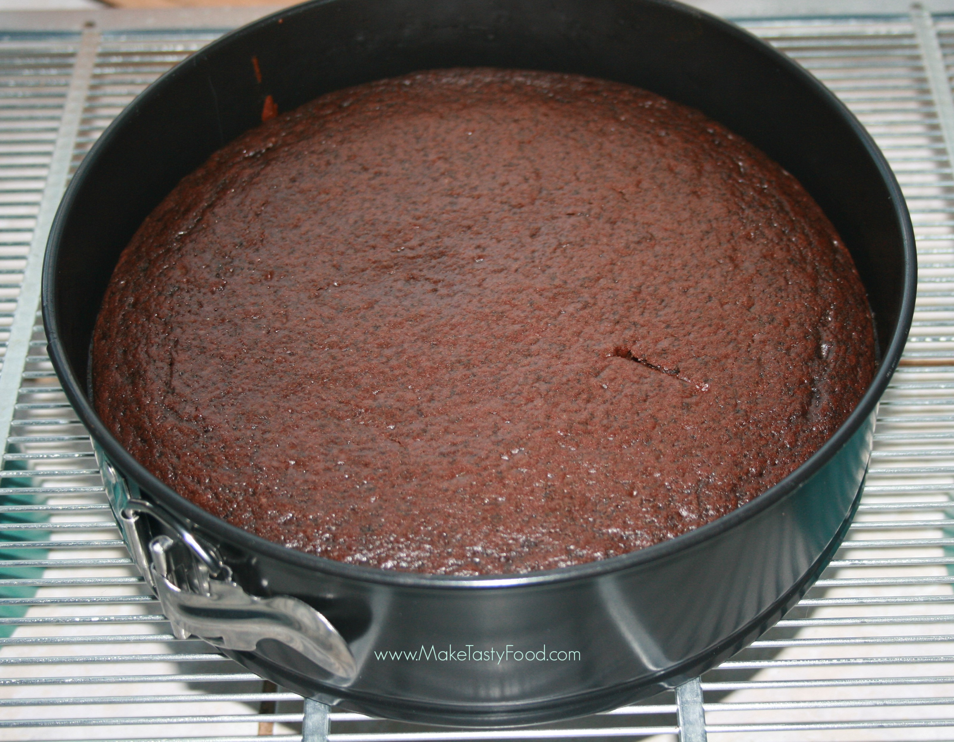 using this microwave cake in an conventional oven cooling on a rack