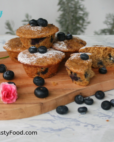 Tasty Banana Blueberry Muffins