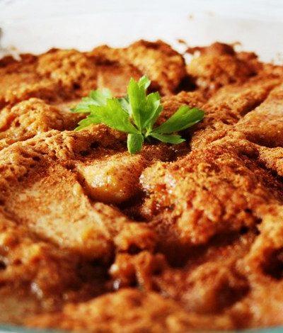 Easy Pear Cobbler Pie
