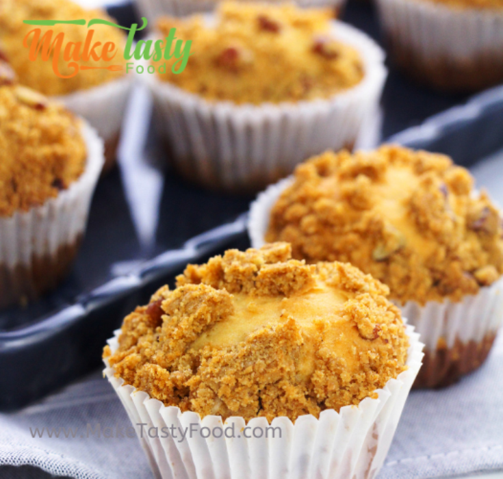 simple crumbed pecan muffins