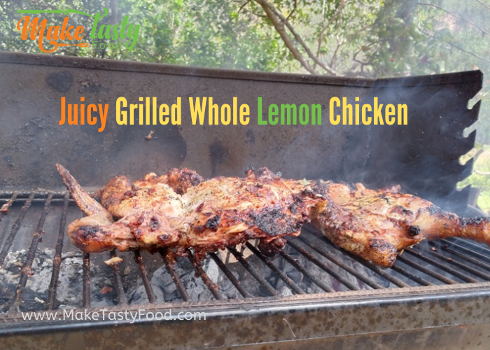 Juicy Grilled Whole Lemon Chicken