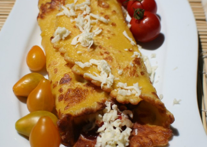 Crammed Savory Breakfast Crepes
