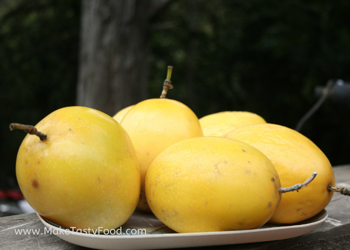 the yellow passion fruit that are ripe and ready to use