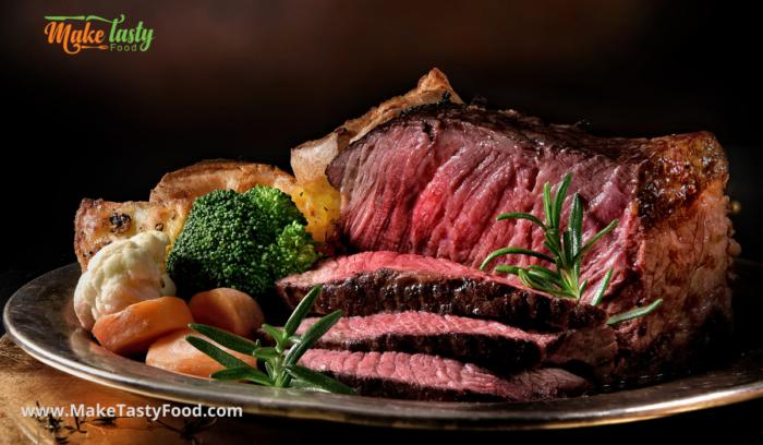 roasted pickled beef meat platter