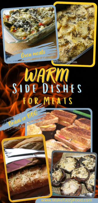 A gallery of the warm side dishes for meats, braai grill or BBQ or even oven baked