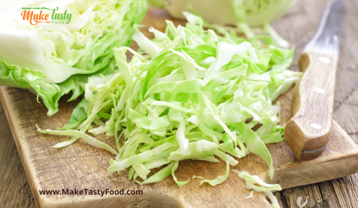 grated cabbage for coleslaw