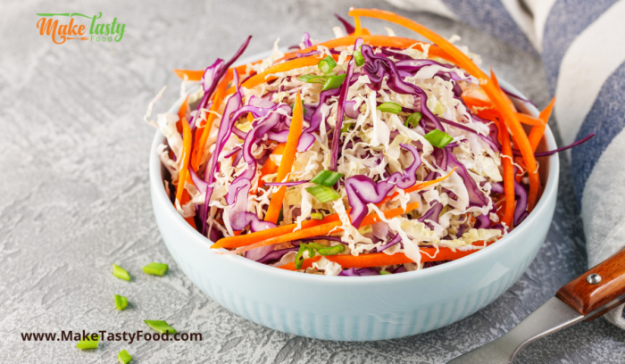 coleslaw salad and sauce side dish for braai