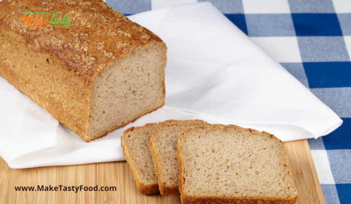 brown bread sliced to make french toast
