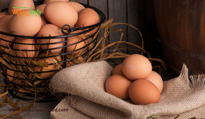 Eggs in a basket to mix for french toast