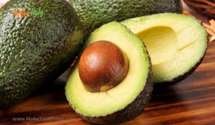 avocado cut for healthy avocado mousse