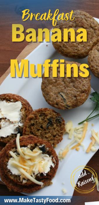 a Pinterest breakfast banana muffins