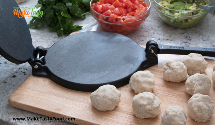 rolled balls of dough for homemade tortillas