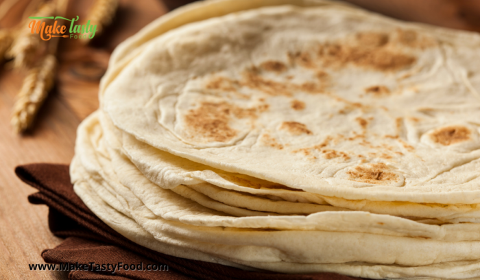 cooked tortilla in a pile