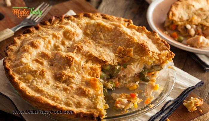 baked chicken and veggie pie