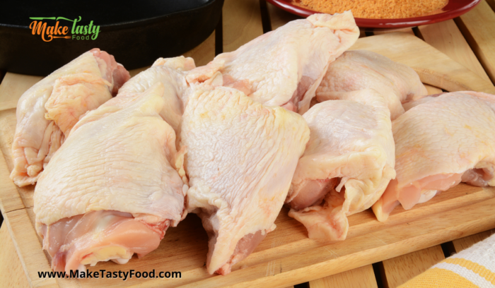 raw chicken pieces to cook for the chicken pie