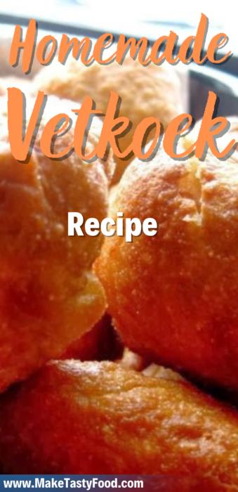 a Pinterest image of homemade vetkoek recipe.