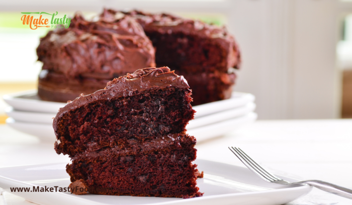 A iced chocolate cake, from make a perfect chocolate cake