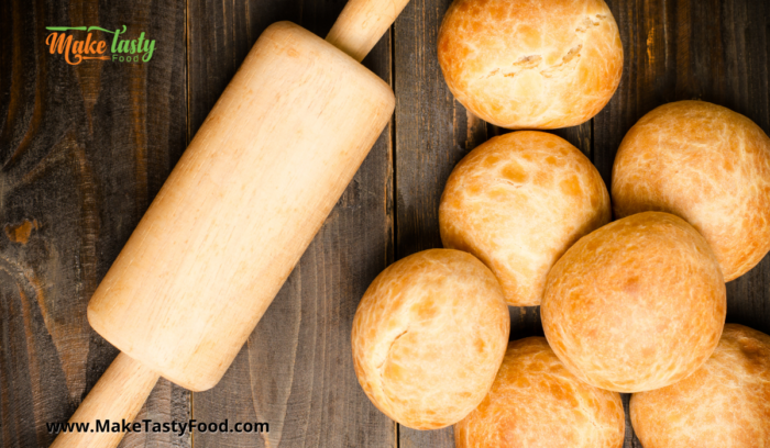 a roller and golden rolls baked