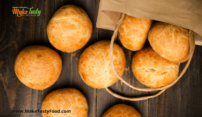 brown paper bag to place some warm golden baked dinner rolls