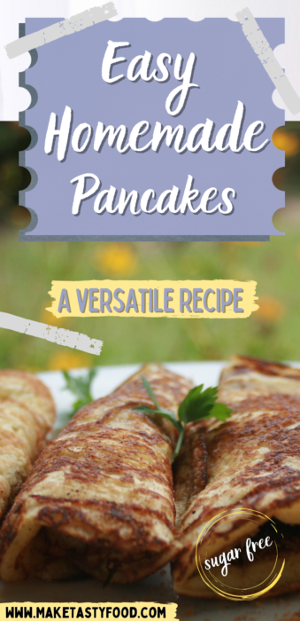 Pinterest image of easy homemade pancakes
