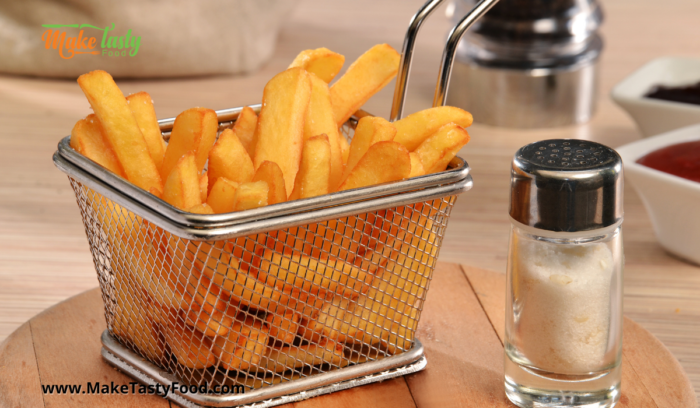 Fried potato chips for the fish and chips meals