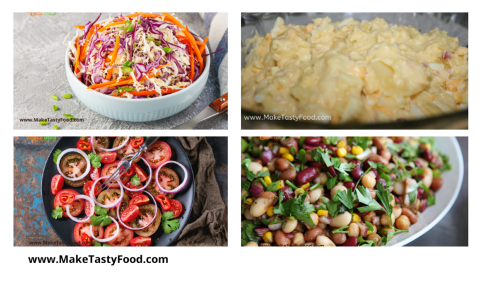 some cold salads for meals