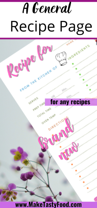 a Pinterest image of a  recipe page