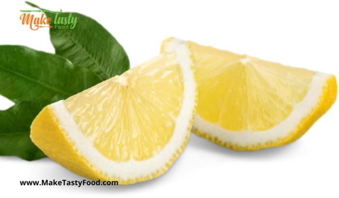lemons cut for the chicken.