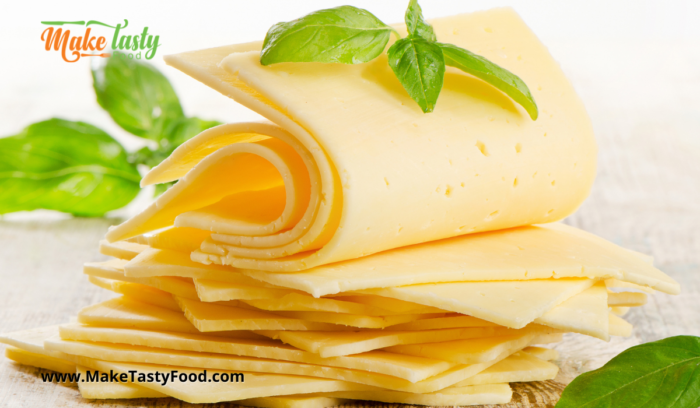 sliced cheddar cheese for the vetkoek filling