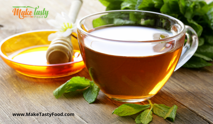 organic cup of honey to add to healthy lime juice drink