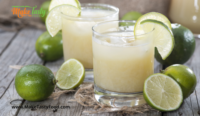two glasses of lime juice homemade
