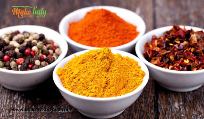 curry and tumeric spices for bobotie