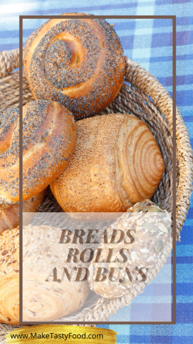 bread rolls and buns