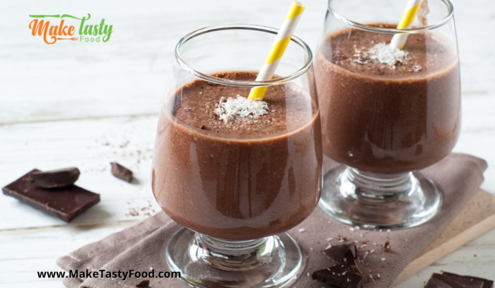 smoothies with chocolate and fruit