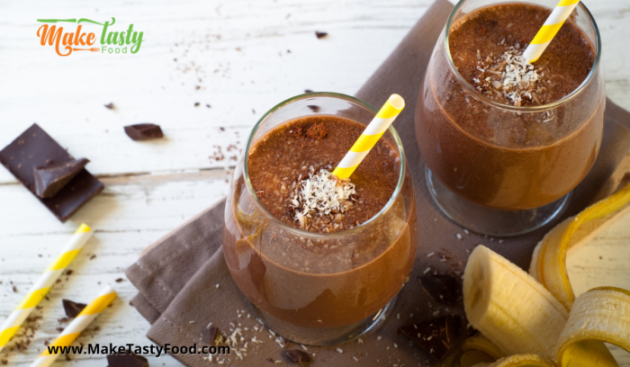 smoothies for breakfast and snack